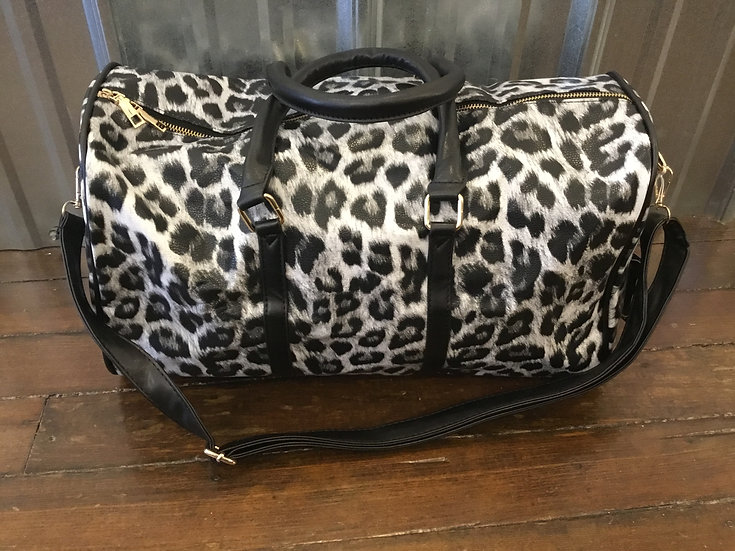 Mini Animal Print Duffel Bags