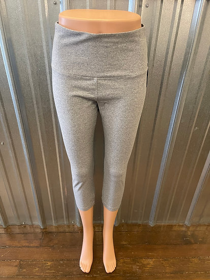 Grey Cotton Crop Legging