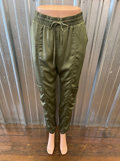 Olive High Waisted Cargo Pant