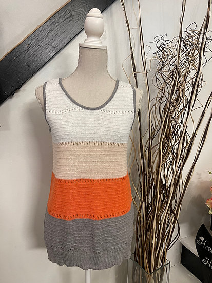 Colorblock Contrast Cut-Out Sleeveless Tank
