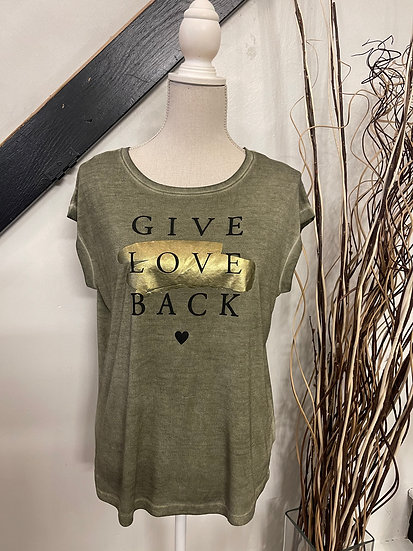 """Olive """"Give Love Back"""" Tee"""