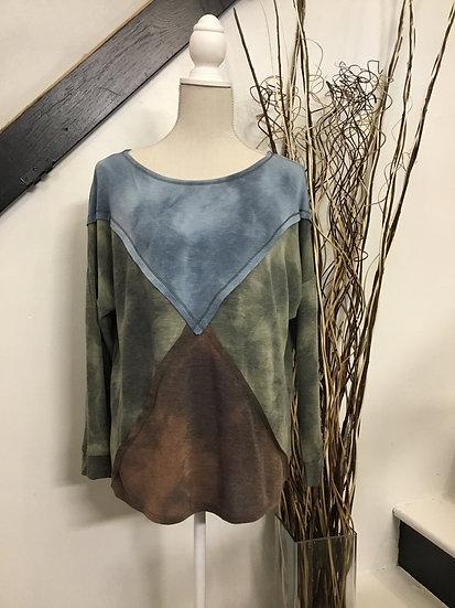 Tri-Colored LongSleeve Top