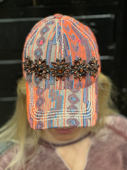 Multi Colored with Bling Hat
