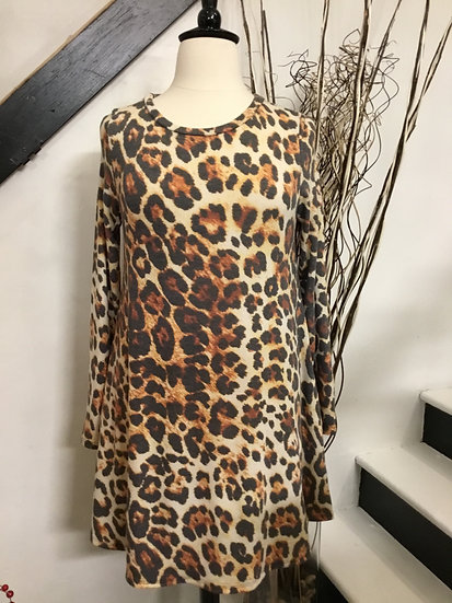 Animal Print Dress with Pockets