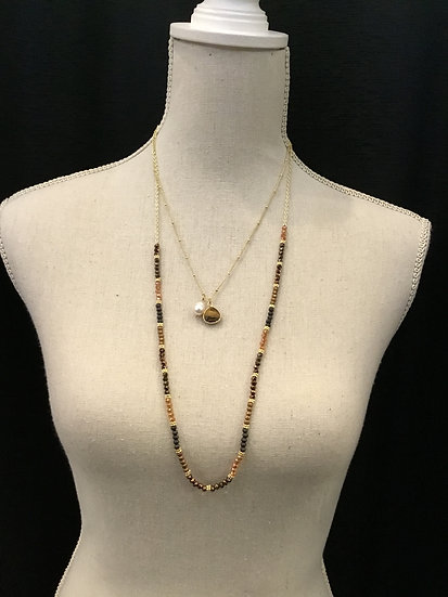 2 Strand Earth Toned Necklace
