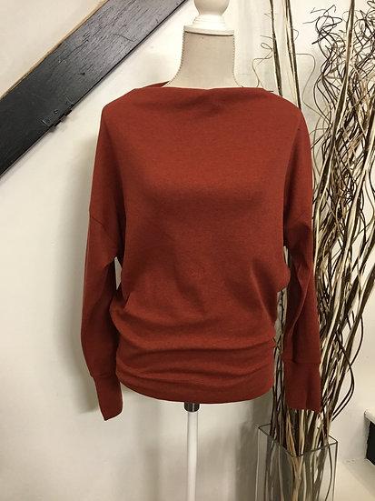 Brick Sweater with Shoulder Zipper