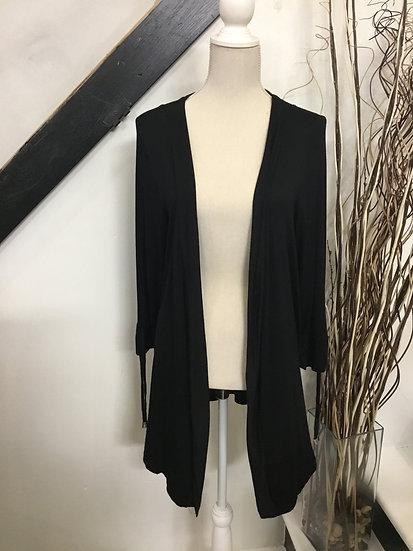 Black String Trim Cardigan