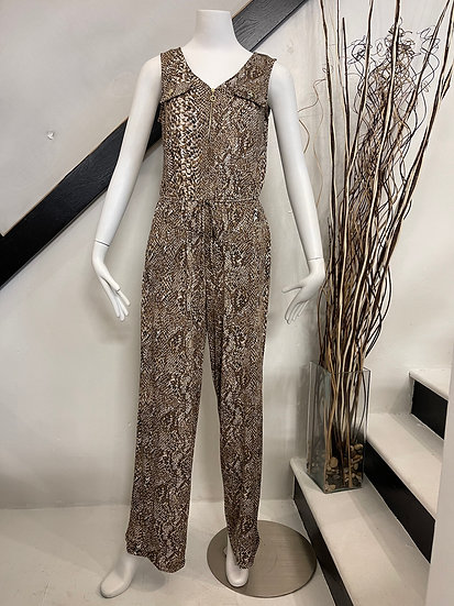 Brown/Black Printed Jumpsuit