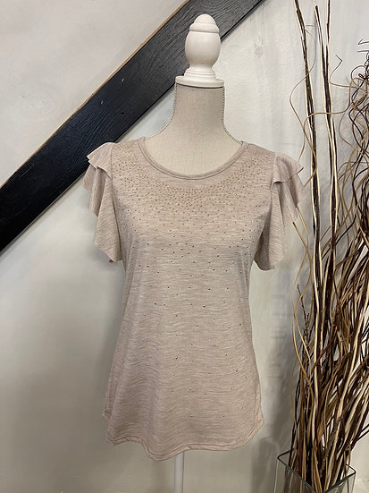 Oatmeal Double Layered SS Top with Studs