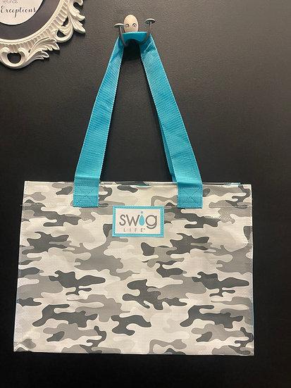 Camo Laminated Tote Bag