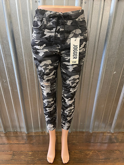 Camo High Rise Ankle Jogger