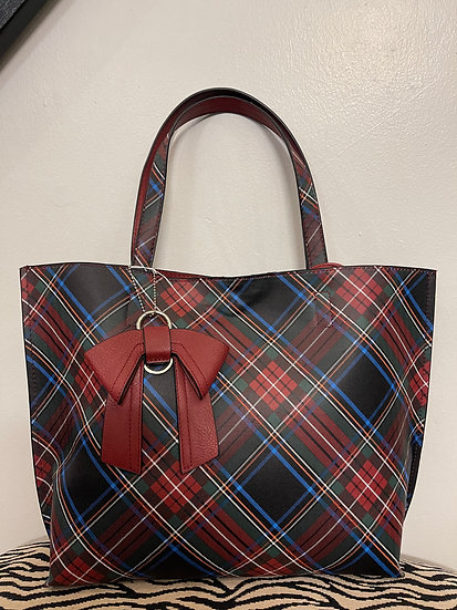 Plaid Bow Bag