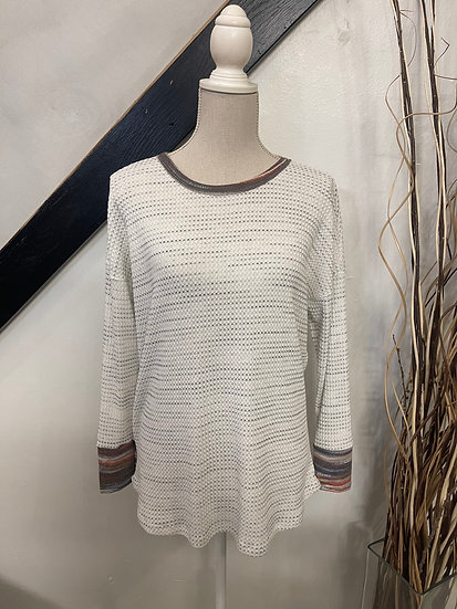 LS Round Neck Space Dyed Knit Top