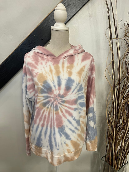 Cocoa Spiral Tie Dye Hoodie