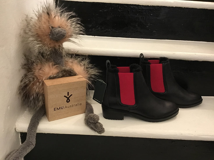 Black & Berry Leather Boot