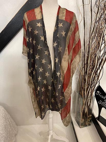 Vintage American Flag Kimono