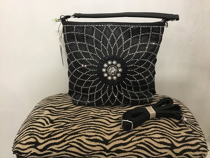 Black Bling Leather Purse