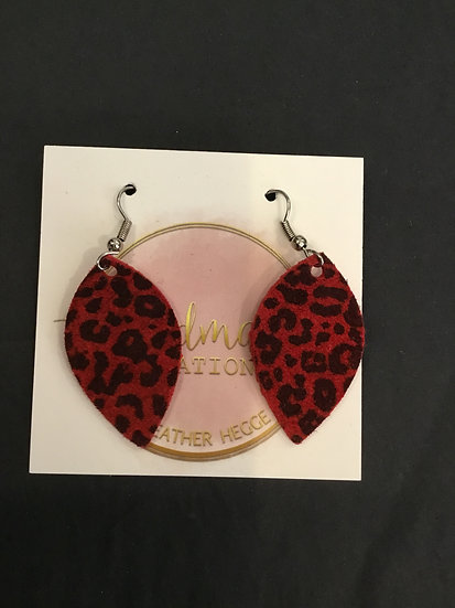 Small Red/ Black Animal Print