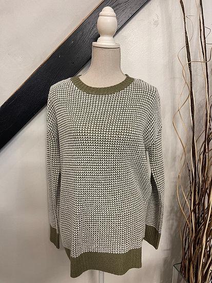 Olive/Ivory Sweater