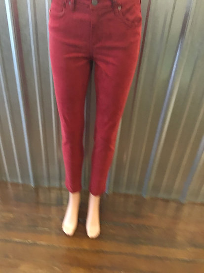 High Waisted Skinny Red Pant