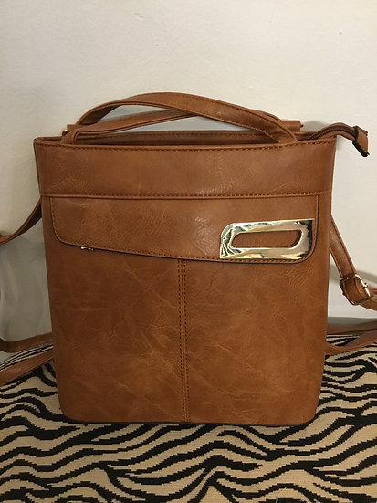 Brown Backpack or Crossbody Purse