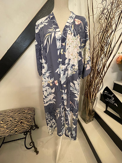 Chambray Floral Kimono