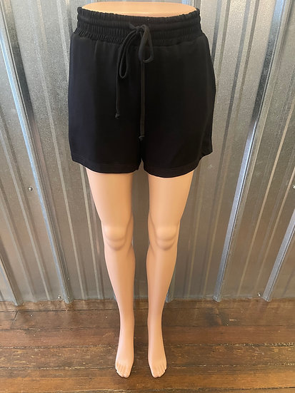 Black Shorts with Drawstring
