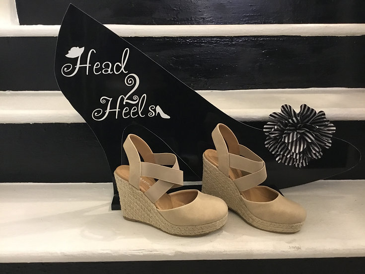 Beige Wedge Heel