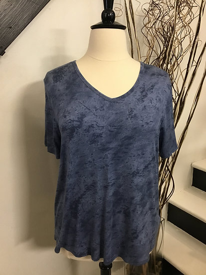 Blue Top with Cut-out Back