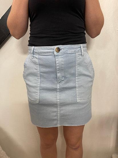Raw Edge Twill Skirt