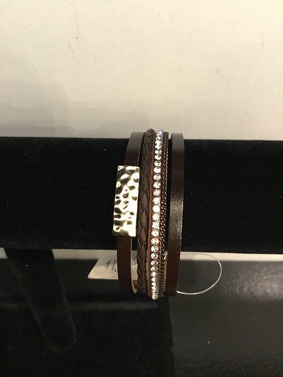 Chocolate Brown Magnetic Bracelet 4 strand