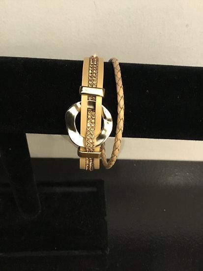 Gold Circle Magnetic Bracelet