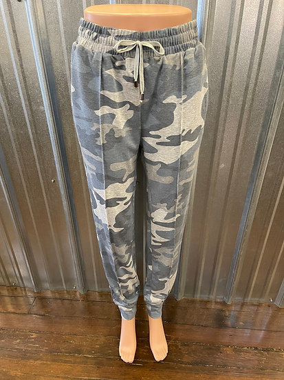 Blue Camo French Terry Jogger