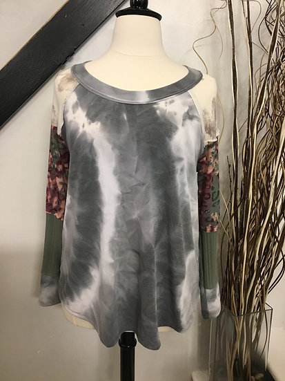 Grey Multi Top