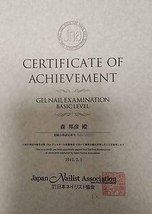 JNAジェルネイル検定初級,ジェルネイル検定,日本ネイリスト協会