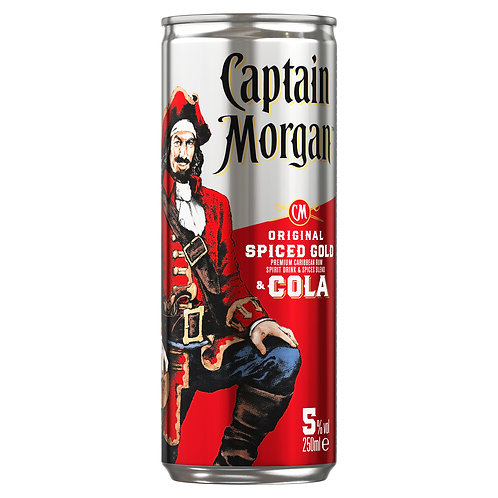 Captain Morgan Spiced & Cola 0,25l plech