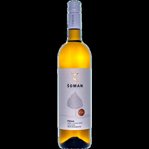 Pálava 2019 Výběr z hroznů Vinařství Šoman Dolní Dunajovice