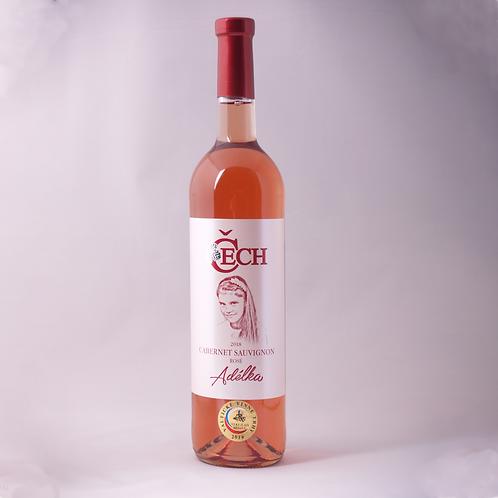 Cabernet Sauvignon Rosé 2018 Pozdní sběr Vinařství Čech Tvrdonice