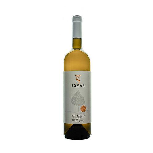 Rulandské šedé 2019 Pozdní sběr Vinařství Šoman Dolní Dunajovice