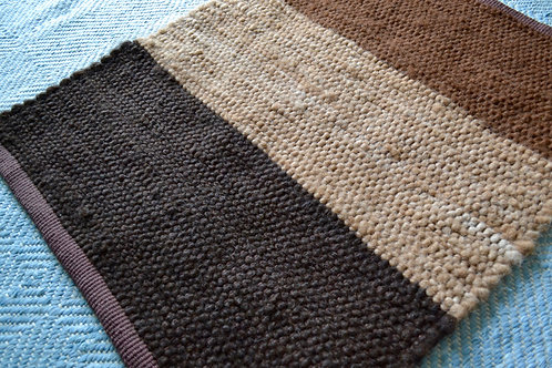 2 x 3 Color Block Alpaca Rug