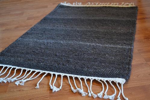 2x3  Gray Alpaca and Wool Rug
