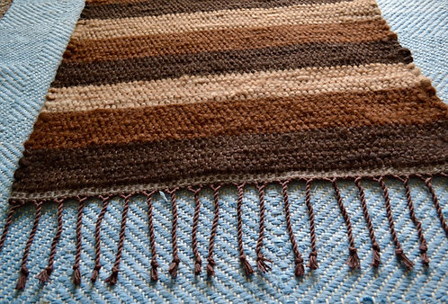 2 x 3 Striped Alpaca Rug