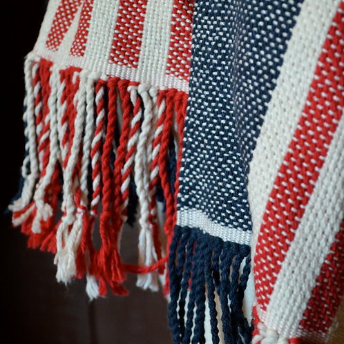 Red, White, and Blue American Flag Scarf
