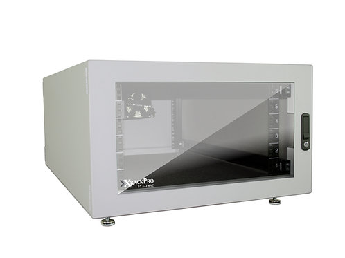 XRackPro2 6U Noise Reduction Enclosure - Platinum Gray