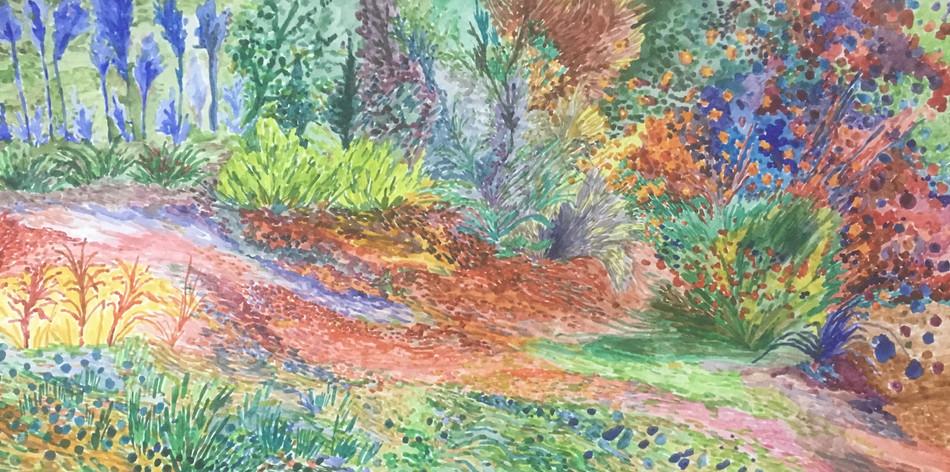 Inspired by 'Garden at Arles', 3 June 2020