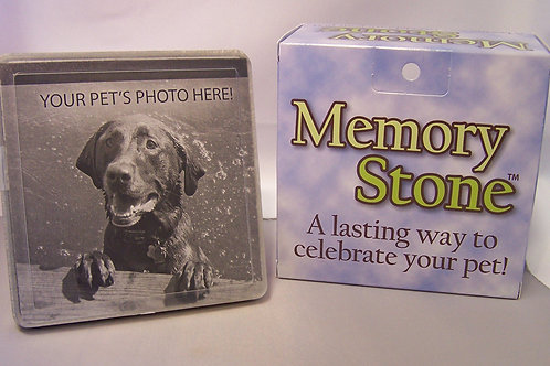 SMALL MEMORY STONE WITH PHOTO FRAME ONLY