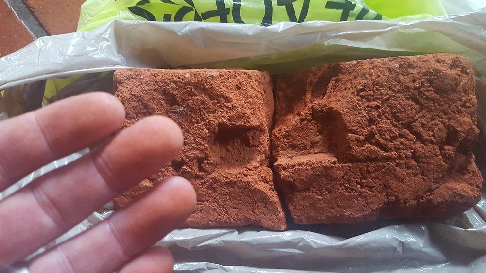 A malawian brick - I broke it by hand