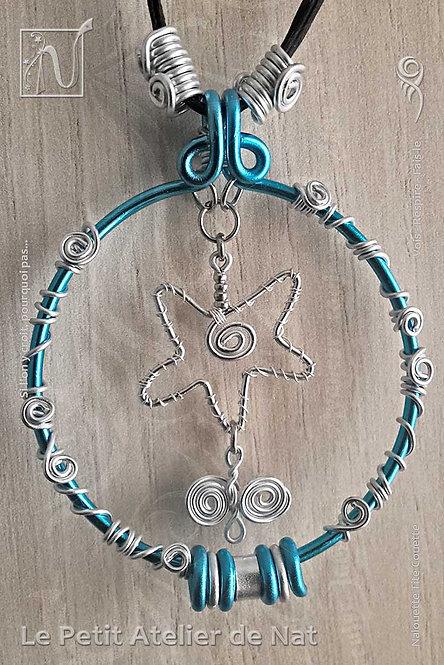 Collier « Turquoise étoilée» - Collection « Pour chaque jour » (Vue de face)