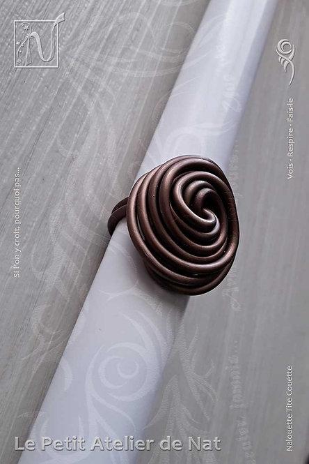 Bague « Tourbillon - Douceur Chocolat »