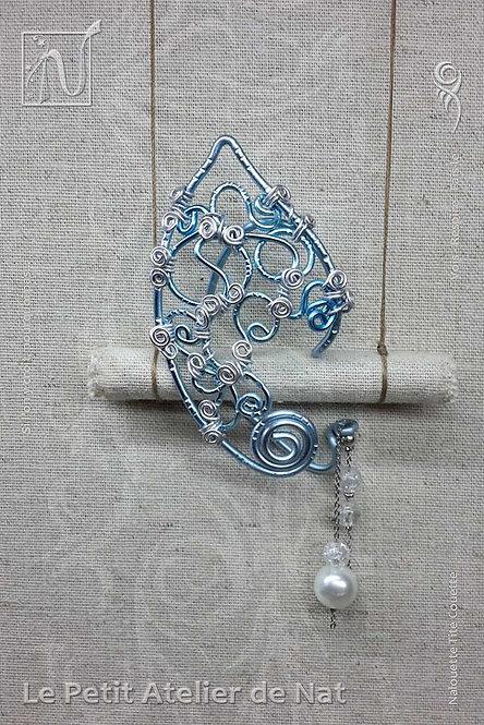 Tour d'oreille féerique ou elfique « Fantaisie Bleu d'Argent » 1.0